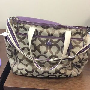 Gently used Authentic Coach Diaper Bag
